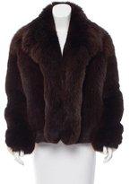 Celine Fox & Mink Fur Bomber Jacket