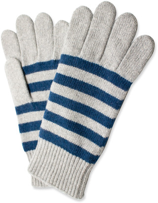 Portolano Men's Cashmere Striped Gloves