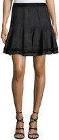 T Tahari Carlisle Faux-Suede Swing Skirt
