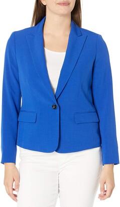 Kasper Women's Crepe Single Button Jacket