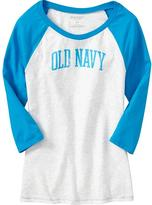 Old Navy Women's Logo Baseball Tees