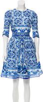 Dolce & Gabbana 2016 Silk Majolica Dress