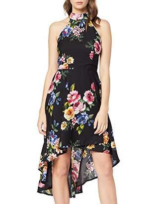 Yumi Women's Colourful High Low Dress Black 18, (Size:)