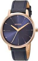 Nixon Women's 'Kensington' Quartz Metal and Leather Watch, Color:Blue (Model: A1082195-00)