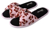 Aerusi Cozy Slide Leopard Style Home Memory Foam Slipper
