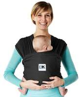 Baby K'tan Breeze Extra-Large Baby Carrier in Black