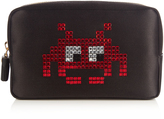 Anya Hindmarch Space Invaders satin make-up pouch