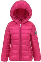 Wenseny Boys Girls Winter Jacket Packable Quilted Hooded Down Jacket Lightweight 4