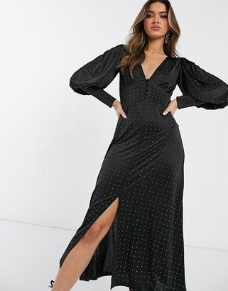 Asos DESIGN midi dress with hot fix embellishment