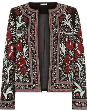 Vilshenko Regan Embroidered Velvet Jacket