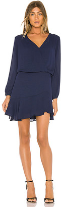 Krisa Long Sleeve Surplice Dress