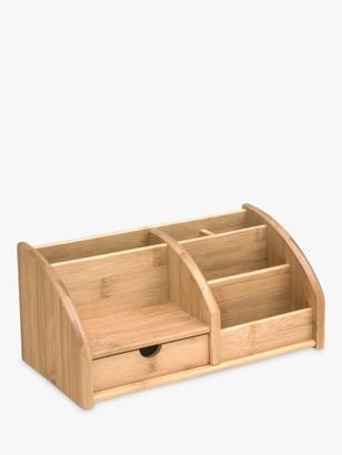John Lewis & Partners Bamboo Desk Organiser