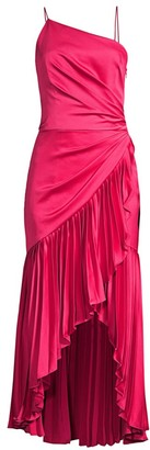 Flor Et. Al Izmal Pleated Asymmetrical Midi Dress