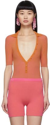 Jacquemus Orange and Pink Le Body Yauco Bodysuit