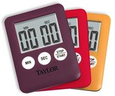 Taylor Mini Digital Kitchen Timer Assorted Colors by Taylor