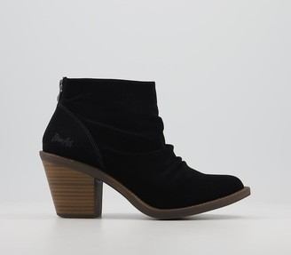 Blowfish Malibu Lagol Ankle Boots Black Nubuck