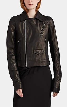 Rick Owens Women's Stooges Leather Crop Moto Jacket - Black