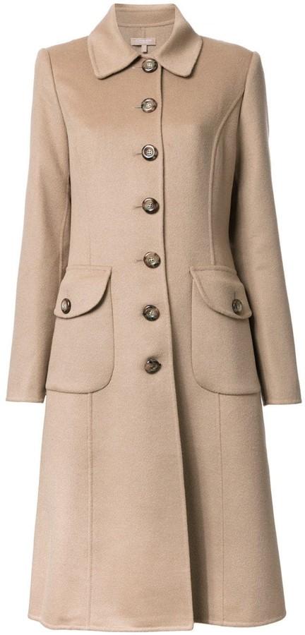 Michael Kors buttoned mid coat