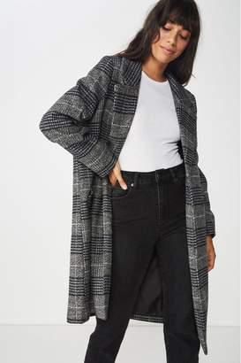 Cotton On Womens Mid Length Coat - Black