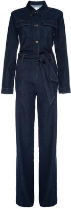 Frame Vintage Denim Long Sleeve Jumpsuit