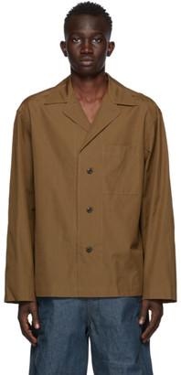 Lemaire Brown Cotton Poplin Shirt