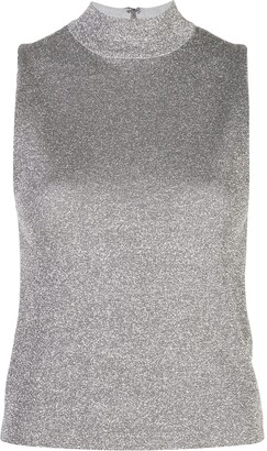 Alice + Olivia Alice+Olivia sparkle-effect turtleneck tank top