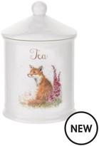 Royal Worcester Wrendale Tea Canister