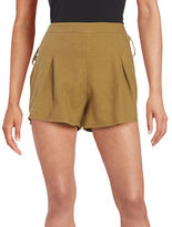 Free People Lace-Up Linen-Blend Shorts