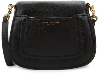 Marc Jacobs Pebbled Leather Mini Saddle Crossbody Bag