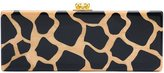 Edie Parker leopard pattern rectangular clutch - women - Acrylic - One Size