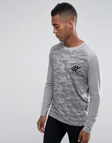Jack and Jones LongSleeve Camo Raglan T-Shirt