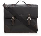 Jeff Banks Black Leather Briefcase
