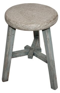 Ophelia Hargreaves End Table & Co. Table Base Color: Soft Aqua Wash