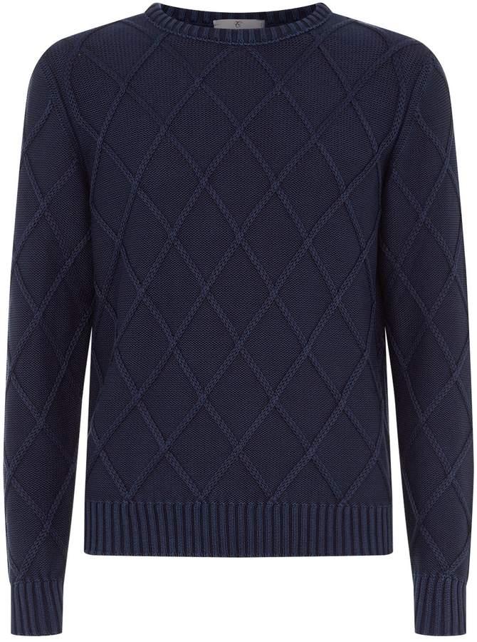 Canali Diamond Knit Sweater