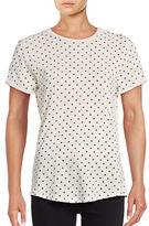 Current Elliott Roll Sleeve Polka Dot T-Shirt