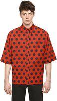 Dolce & Gabbana Polka Dot Printed Cotton Poplin Shirt