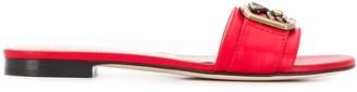 Etro Pegaso plaque flat sandals