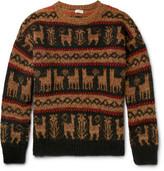 Dries Van Noten Oversized Fair Isle Wool-Blend Sweater