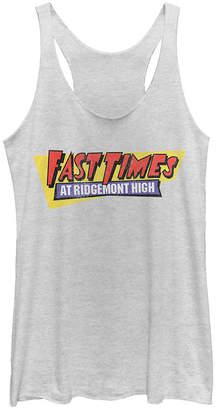 Fifth Sun Fast Times at Ridgemont Retro Logo Tri-Blend Racer Back Tank