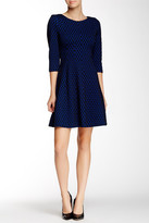 Taylor Quarter Length Sleeve Short Dress 5782M