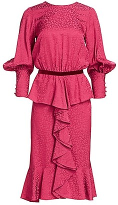 Johanna Ortiz Harlem Renaissance Peplum Dress