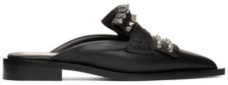 Alexander McQueen Black Punk Fringe Slip-On Loafers