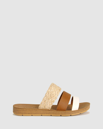 Zeroe - Women's White Wedge Sandals - Raja Comfort Mule Sandals - Size One Size, 6 at The Iconic