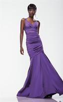 Theia 881071 Surplice Iridescent Taffeta Gown