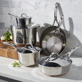 Crate & Barrel Anolon Nouvelle Copper Stainless Steel 10-Piece Cookware Set