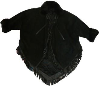 Christian Dior Black Suede Coat for Women Vintage
