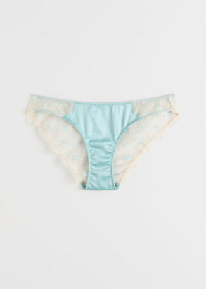 And other stories Scalloped Floral Lace Satin Briefs