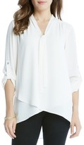 Karen Kane Women's Tie Neck Blouse