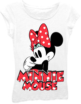 Freeze White Polka Dot 'Minnie Mouse' Tee - Girls