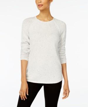 Karen Scott Textured Curved-Hem Sweater, Created for Macy's